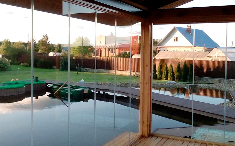 Cristaleria terraza de vidrio